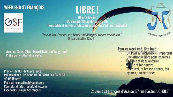 """18 - 19 février : """"WE st François"""""""