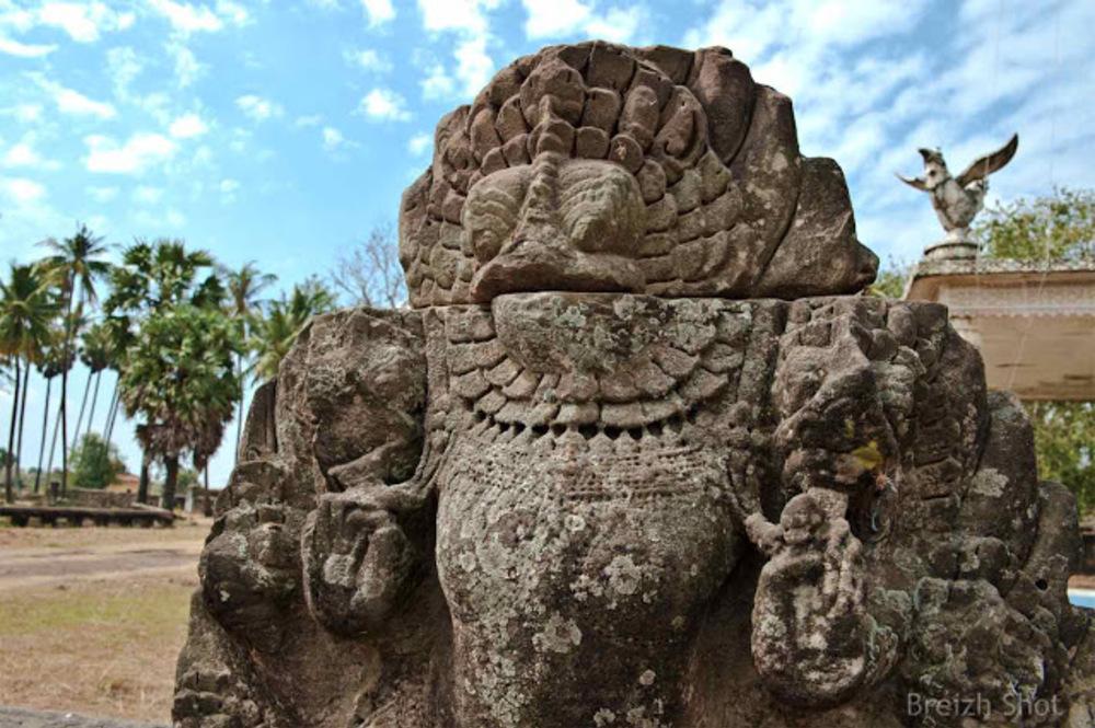 Banteay Prei Nokor - Kampong Cham : Un naga