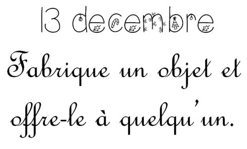 Vendredi 13 décembre: Calendrier de l'Avent