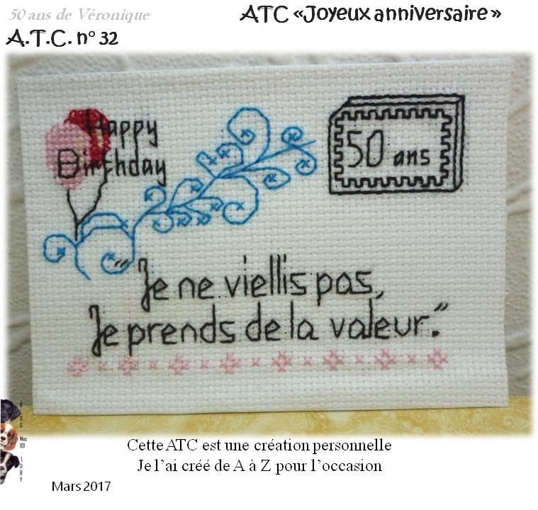 """ATC """"50 ans"""" - une créa personnelle"""