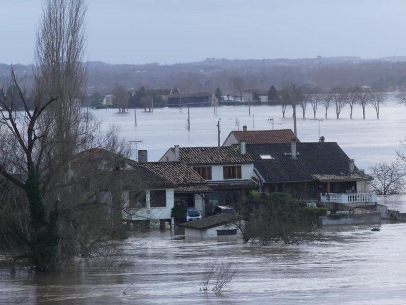 La crue de la Garonne