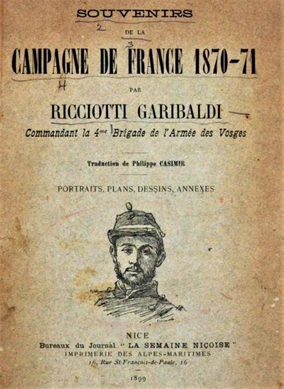 """""""Garibaldi, la surprise de Châtillon"""", un notule d'histoire de Dominique Masson"""