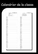 calendrier de la classe