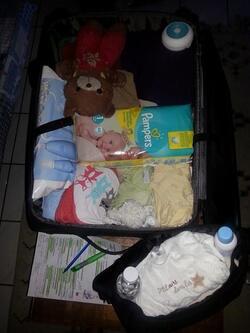 Trousseau d'entrée maternité