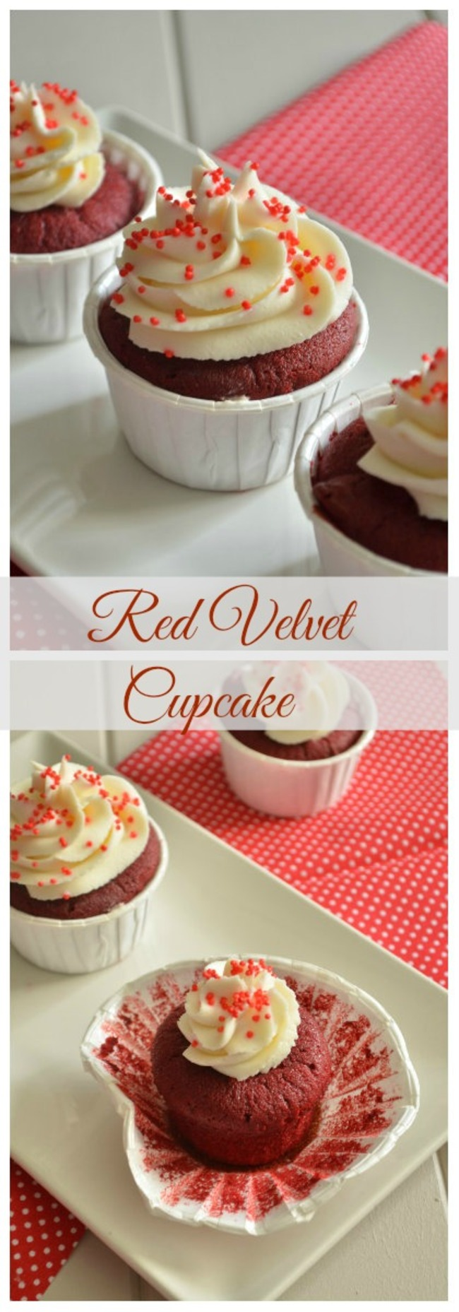 Red Velvet Cupcake {Le Cupcake rouge velour}