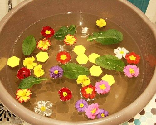 Bain de Printemps aux primevères, miel et eau de lavande
