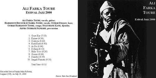 Live: Ali Farka Touré - Estival Jazz Lugano - 14 Juillet 2000