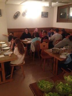 1er repas à St Jean d'Aulps