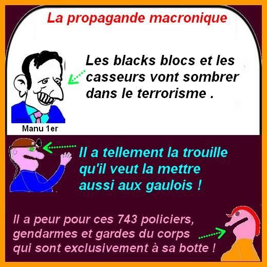Le Coronavirus et la bande à Macron s'exprime dans les infos du poissonnier.