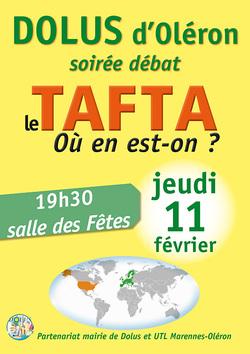 TAFTA: un débat public organisé par l'Université du Temps Libre et la commune de Dolus