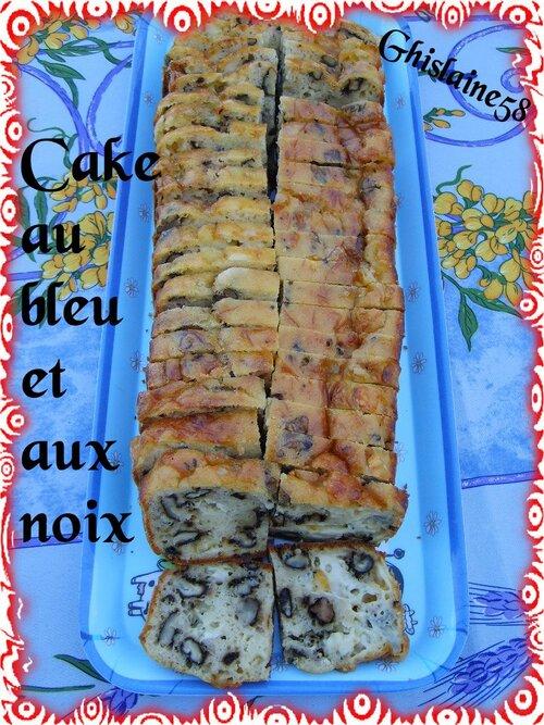Cake au bleu et aux noix
