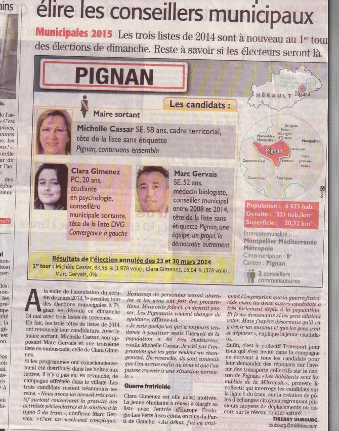 Midi Libre du 20 mai 2015
