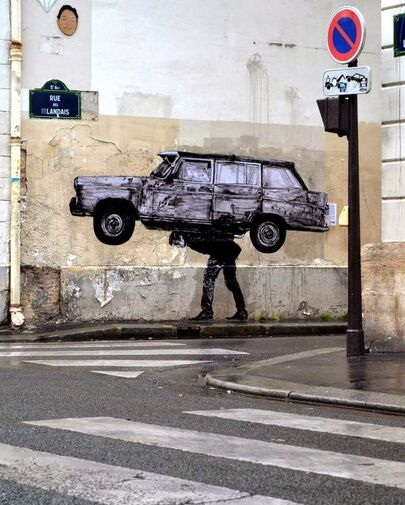 Street art et automobile