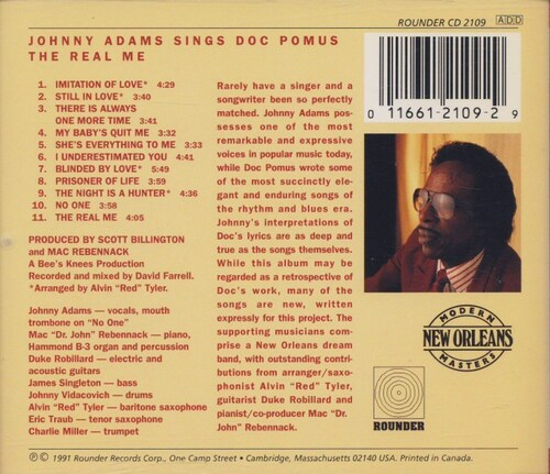 "Johnny Adams : CD "" Johnny Adams Sings Doc Pomus : The Real Me "" Rounder Records CD 2109 [ US ]"