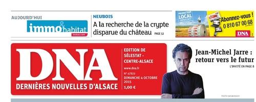 """Les DNA, dimanche 4 octobre 2015, """" A la recherche de la crypte disparue du Château. """". (Aurore Bac) (Franck Delhomme)"""