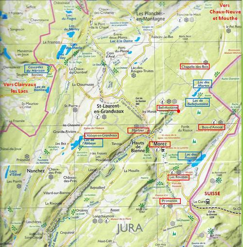 Le Jura : carte et sommaire