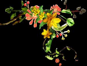 Coin decs fleurs
