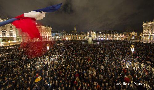 Attentat de Charlie hebdo : rassemblement en hommage aux victimes à Nancy