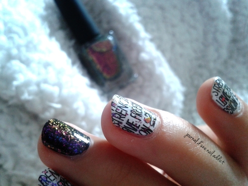 nail art écriture graffiti journal d'une nail addict