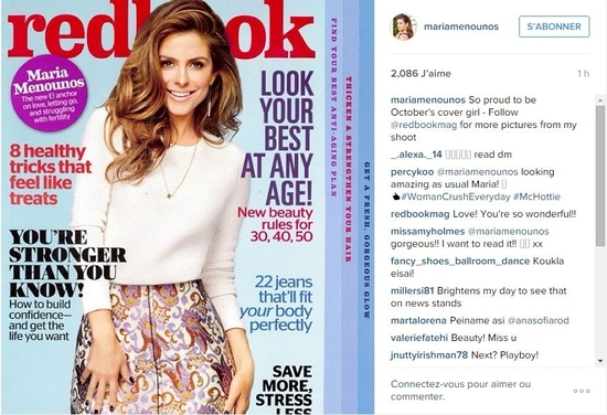 maria menounos sur Instagram So proud to be October's cover girl - Follow @red_2015-09-15_19-17-05