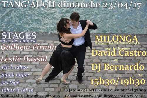 TANG'AUCH Stages et Milonga 23 avril 2017