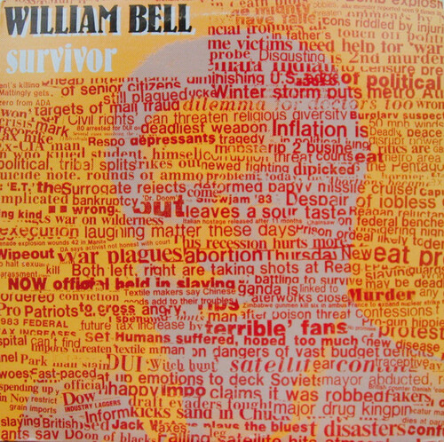 "William Bell : Album "" Survivor "" Kat Family Records FZ 38643 [ US ] 1983"