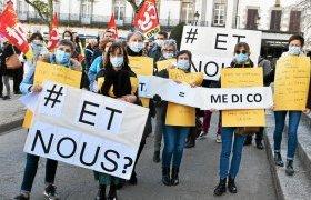 300 personnes ont manifesté dans les rues de Vannes.