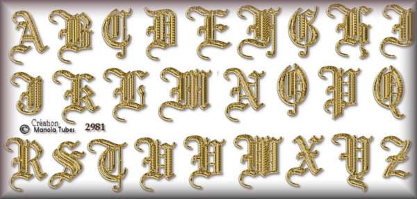 Tube Alphabets 2981 et 2980