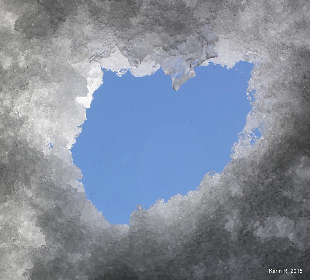 Cœur naturel pour amour sincère