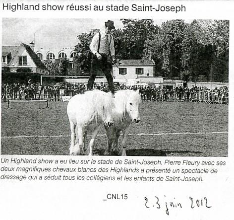 Highland show réussi à Saint Joseph