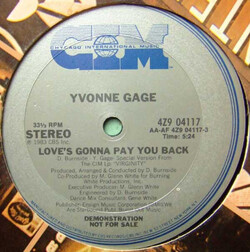 Yvonne Gage - Love's Gonna Pay You Back