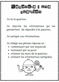 Répondre à une question, lire, lecture, stratégie, cp, ce1, cycle 2, dixmois