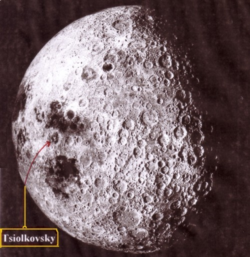 """Résultat de recherche d'images pour """"cratère Tsiolkovski face cachée de la Lune"""""""