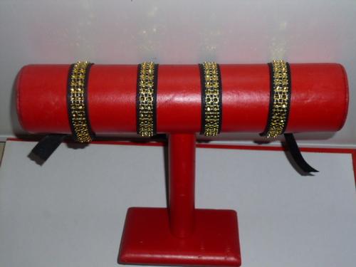 Bracelets satin strass