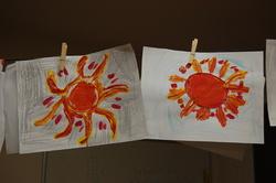 Le soleil en relief