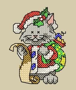 Cartes de Noël, chats 11 et 12.