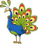 création du jeudi après midi- Le paon, emblême de l'Inde