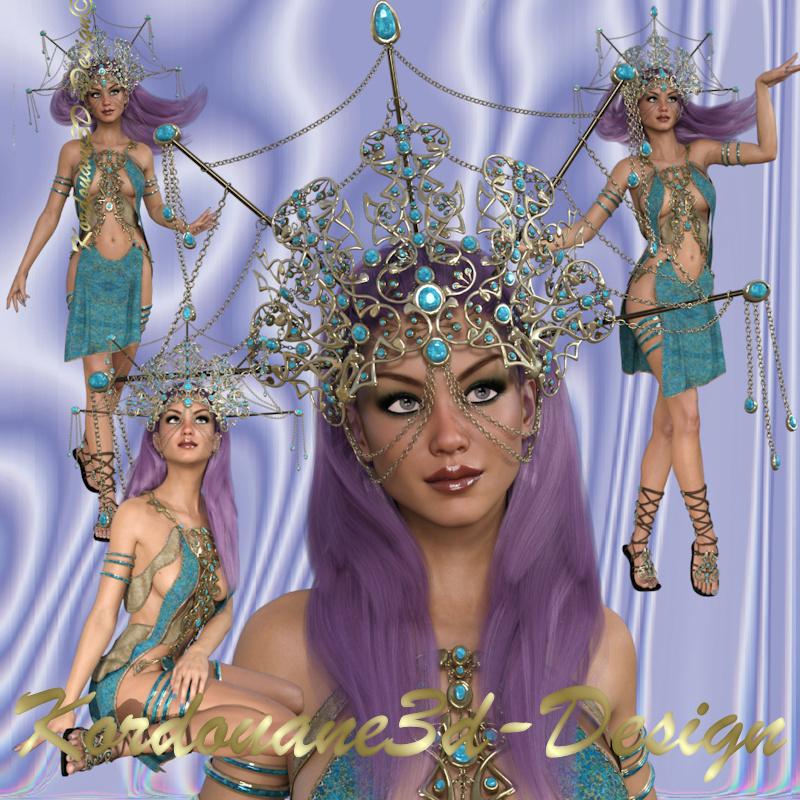 Femme fantasy (tube-poser-render)