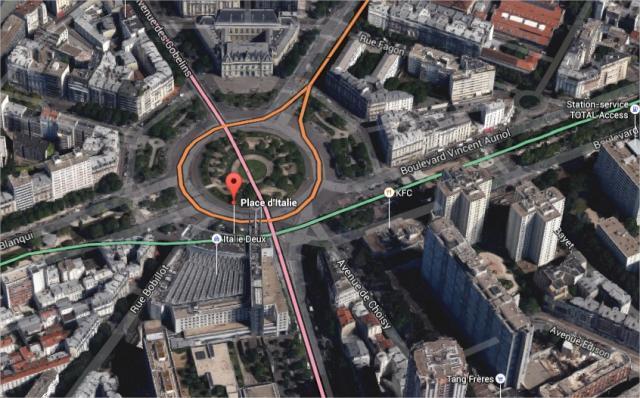 Le suspect a dérobé un véhicule sous la menace d'une arme vers 13h00, place d'Italie, dans le sud-est de la capitale.