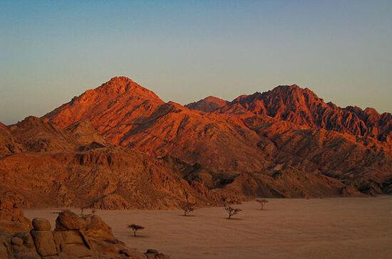 le désert du Sinaï en Egypte