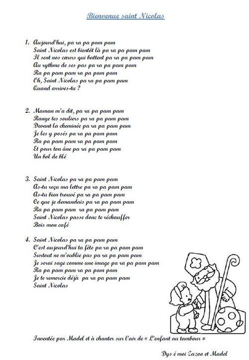 Chanson sur Saint Nicolas écrite par Madel!