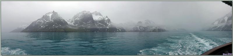 Devant la brume très épaisse dans le Fjord Drygalski, le Lyrial fait demi-tour - Géorgie du Sud