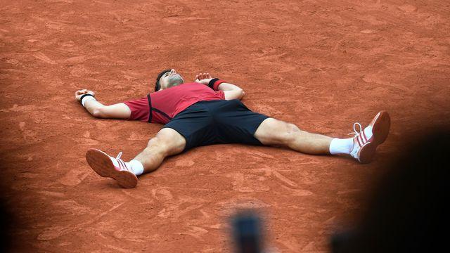 L'explosion de joie de Novak Djokovic vainqueur de Roland-Garros devant Andy Murray, le 5 juin 2016