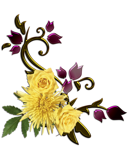 Eléments Vectoriels (Fleuris) Série 15