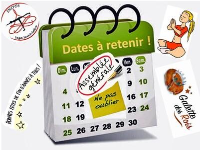 Quelques dates à ne pas oublier....