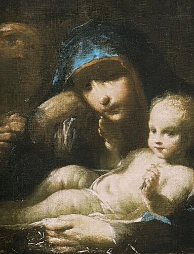 La Sainte Famille huile sur toile de Giusappe Maria Crespi