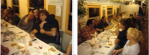 Repas wagon la Rochelle Janvier 2005