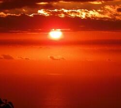 Soleil couchant sur l'ocèan indien