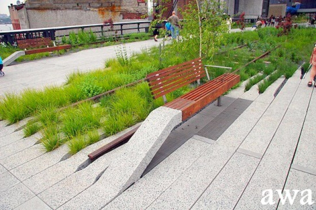 New York : High Line Park et  Wall Sreet