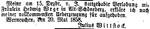 Entlobungsanzeige des Wittstock von 1858